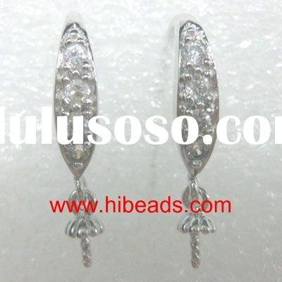 silver spatulate earring accessory,earring finding,jewelry accessory EH007---2108T09