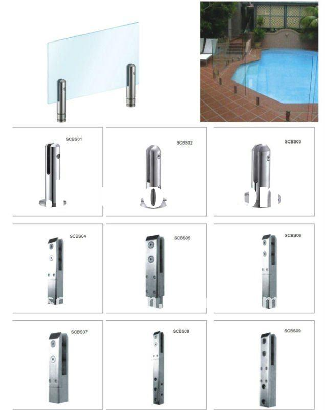 stainless steel pool fence glass balustrade spigot