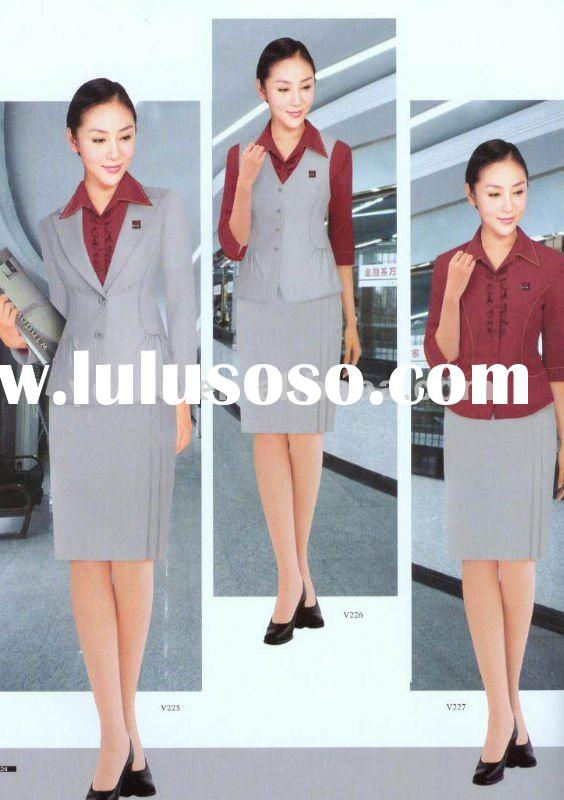 women pants suit uniform/Ladies Office Uniform suits/office uniform