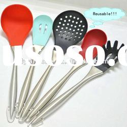 5Pcs innovation fashion silicone kitchen tool set approved of FDA and LFGB certificate
