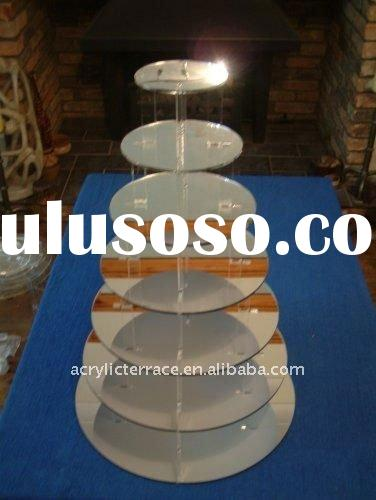 7 Tier Acrylic Wedding Cupcake Stand/7 Tier Acrylic Food Display Base