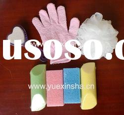 Bath tools - Glove, shower ball, Nail brush , pumice Sponge