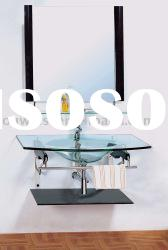 Bathroom sinks, Glass bathroom vanity, bathroom furniture HA313
