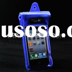 Blue Diving TPU Waterproof Case for iPhone 4/MP3/MP4/Mobile Phone