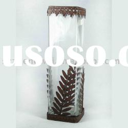 Clear Glass with Sheet Iron, Suitable for Home Decoration
