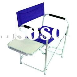 DC1275AL Folding Aluminum Director Chair With Side Table