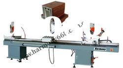Double mitre saw for aluminum and PVC door and window making