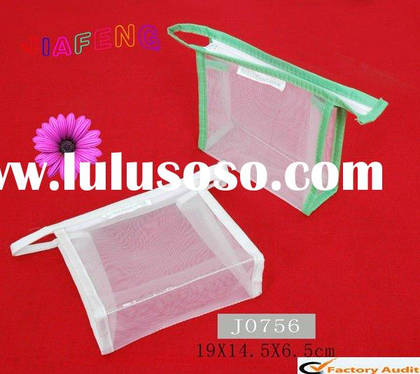 Eco-friendly Side Gusset Mesh Pouch with Nylon Zipper
