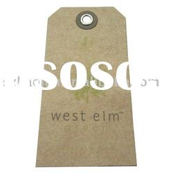 Fashion craft paper hang tag for garment