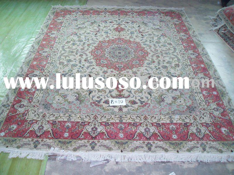 Hand knotted wool/silk blend rugs/carpets