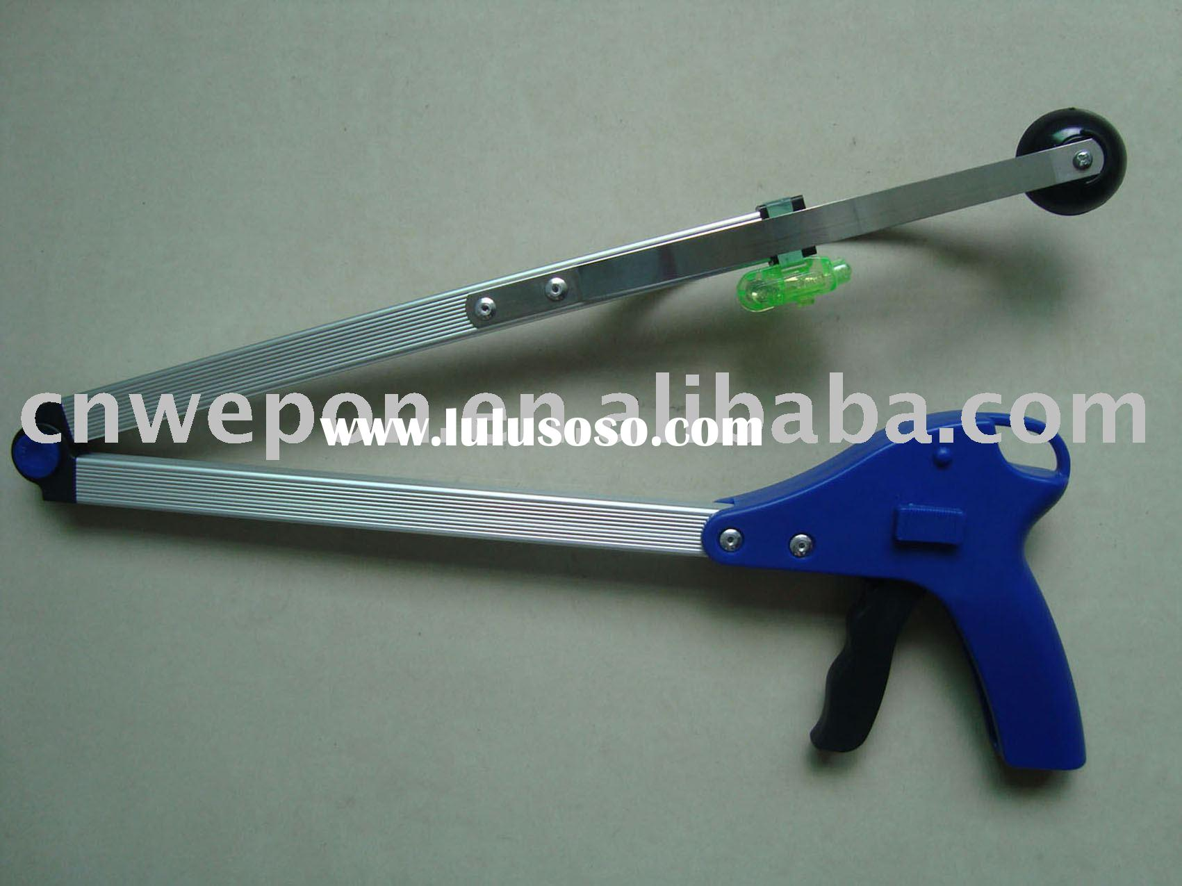 LED folding reacher grabbing tool,pick up tool,rubbish picker