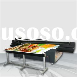 Large format uv flatbed printer for glass, wood, ceramic, foam board,etc.