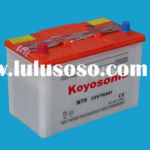 Manufacture High Performance 12v Dry Cell Car battery for Starting from 24AH to 250AH(e.g. N70 )