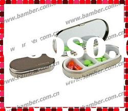 Metal 7 day Pill Box/Pill Case with Printing Logo