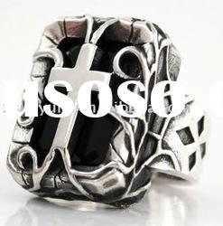 New design silver jewelry of Cross Sterling Gothic ring