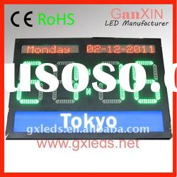 Outdoor unique products green leds jumbo digital electronic led world time clock