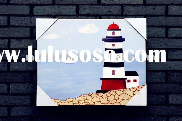 Painting wall art with printing on MDF broad/ plaque
