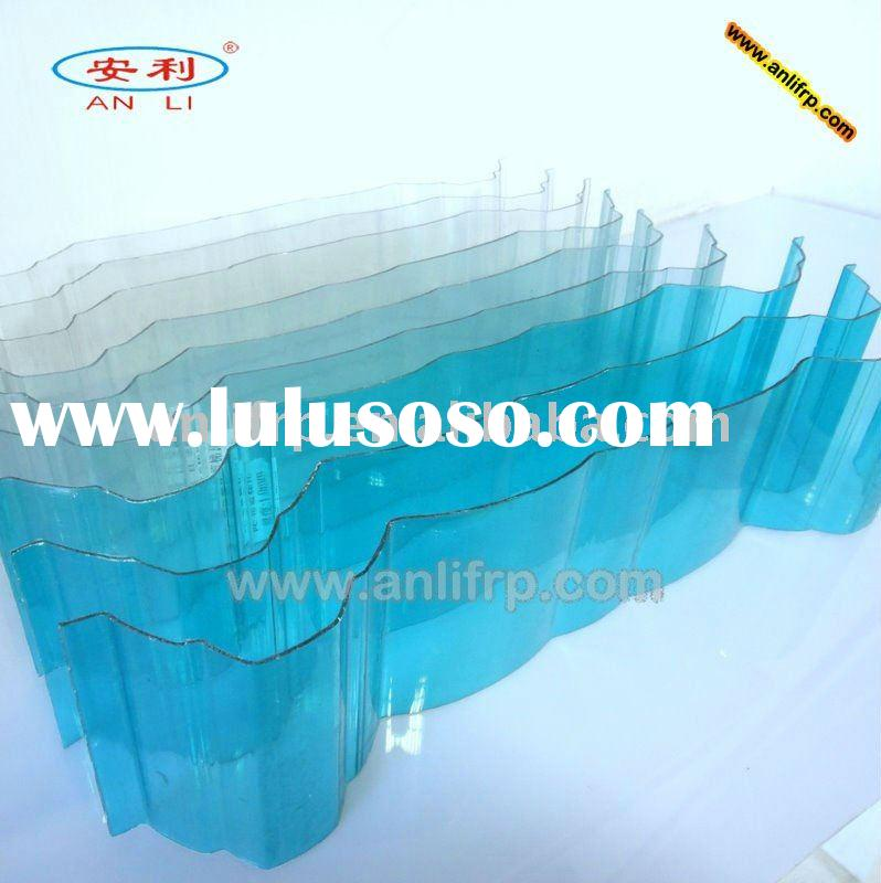 Polycarbonate corrugated sheet for roofing material
