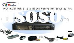 Security CCD Camera & 16CH H.264 DVR Kit
