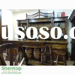Spanish Style Solid Wooden Big Bar Counter for Indoor and Outdoor bars