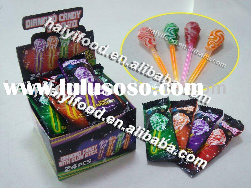 diamond glow stick candy lollipop