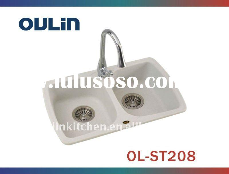 double bowl Composite Granite Sink(OL-ST208)