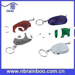 novelty multifunction tape measure with LED light and keychain for promotion