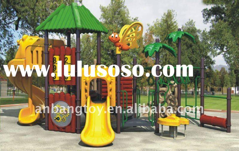outdoor kids playground set with slide---Tree room series