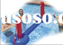 pvc inflatable water volleyball game for sale