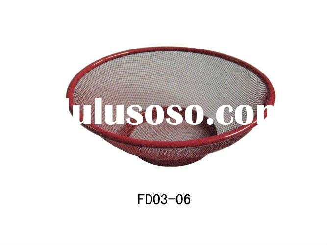 round squere cooking mesh strainer,vegetable fruit basket mesh
