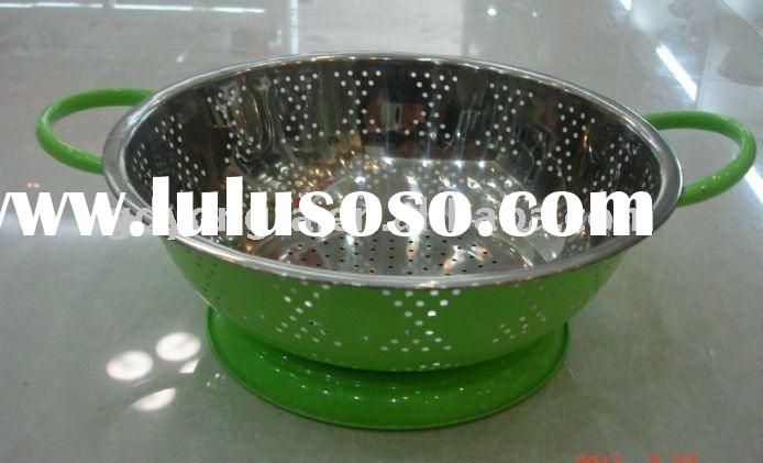 stainless steel fruit basket,colander,strainer,cookware