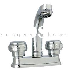 top quality nice chrome plated double handle zinc water tap