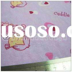 100% Cotton Carded Printed Baby Pajamas Flannel Fabric