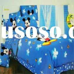 100%cotton mickey mouses Children bedding set/Baby Crib bedding sets