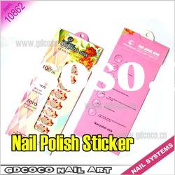 10862#Nail Polish Stick Foils Wraps Quick-Dry Topcoat Nail Polish Sticker