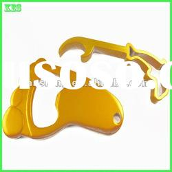 2012 New Products Aluminum Yellow Bottle opener for Bear and Keychain