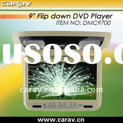 """9"""" flipdown DVD player built-in GAME/Brand New panel/FM/DVD/USB/SD/TV and IR / FM"""