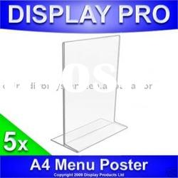 A4 Menu Holder Acrylic Counter Poster Display Stand