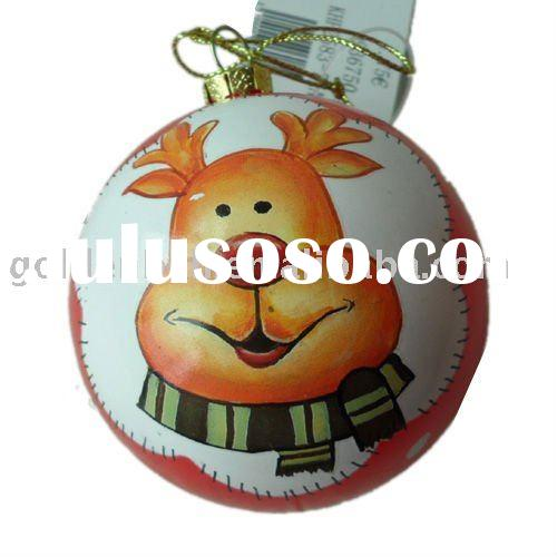Christmas balls/baubles into gift box/X'mas ball with mache paper