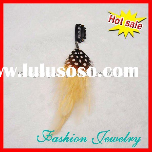 Clip In China Feather Hair Extensions/ Feather Hair Extensions/ Bulk Hair Extensions Iwth A Clip