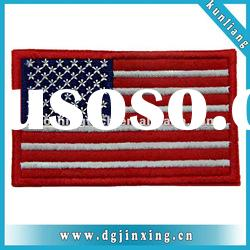 Custom usa flag patch embroidery