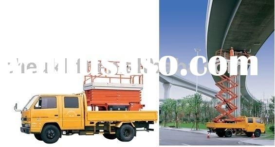 Electric Aerial Work Platform Vehicle Carrying Scissor Lifts