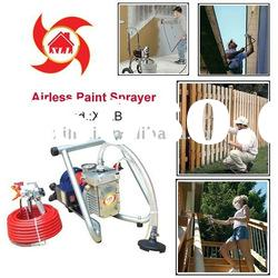Electric portable high pressure airless paint sprayer