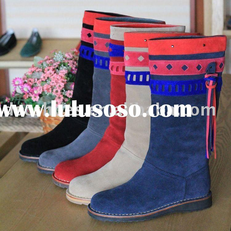 Fashion Women's Suede Boots with ethnic flavor DCS801-8