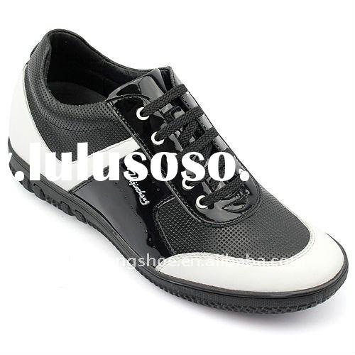 Fashion height increasing man casual shoes with canvas material