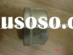 Galvanized malleable cast iron pipe fitting banded cap threaded