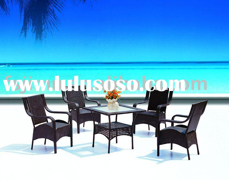 Garden furniture modern outdoor metal table sets