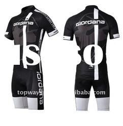 Giordana Black Racing Cut Sublimation Printed Polyester Cycle Wear