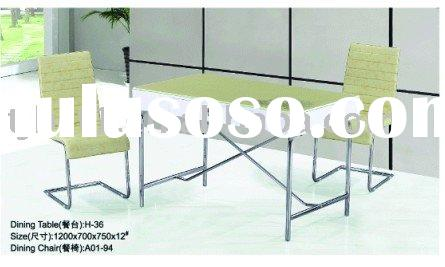 Glass and Metal Dining Table Model:H-36