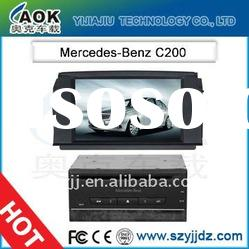 HD screen car dvd for Mercedes Benz C200 car audio with gps TV Bluetooth Ipod Radio MP3